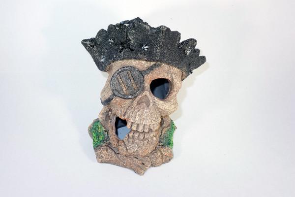 Piraten - Totenkopf Aquarium Deko