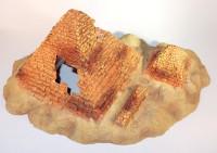 Pyramids including air vents; aquarium decoration