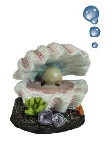 Coquille Happet avec perle; y compris les bouches daération